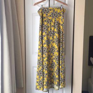 LuLaRoe Pattered Long maxi skirt Sz XL